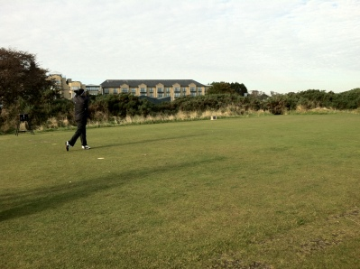 10-10-12 Tee off on New Course