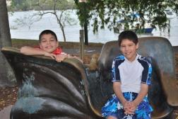 11-28-09 Aidan & Nathan park chair