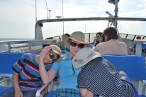 11-30-09 Nathan, Shellie & Aidan boat
