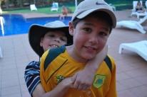 12-2-09 Aidan & Nathan brotherly moment