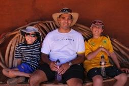 12-2-09 Aidan, Neerav & Nathan bench