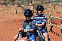 12-3-09 Aidan & Nathan on camel