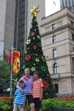 12-5-09 Shellie & boys Christmas tree