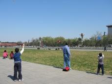 3-23 Boys fly kites