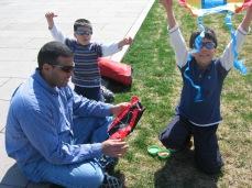 3-23 Boys opening kites