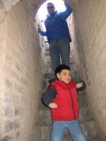 3-24 Neerav & Aidan stairway