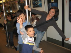 3-26 Boys & Erin subway