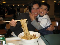 3-26 Erin & Aidan noodles