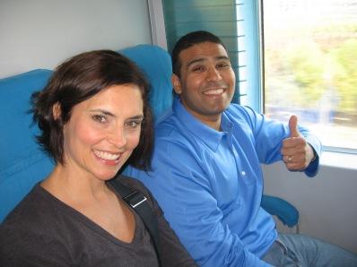 3-26 Erin & Neerav train