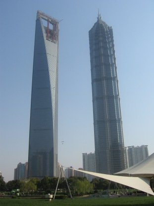 3-26 New tower and Jin Mao Tower