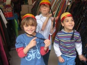 3-27 Boys emperor hats
