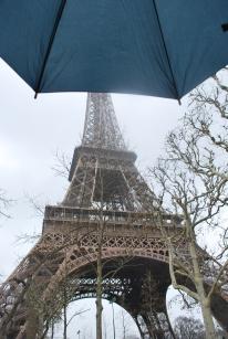 3-28-10 Eiffel under umbrella