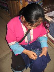 3-29 Woman needlepoint