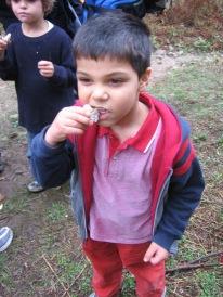 3-30 Aidan eats ricecake snack