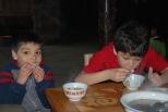 3-30 Aidan & Nathan try ricecakes & crispy rice tea