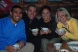 3-30 Grownups enjoy crispy rice tea