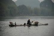 3-31 Fishing birds with fisherman