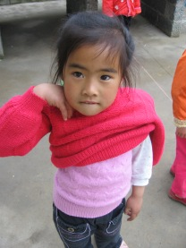 3-31 Girl pink sweater