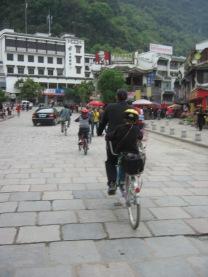3-31 Group bike thru town