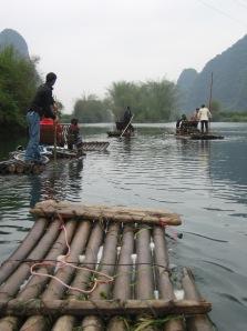 3-31 Rafts downriver