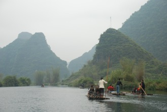 3-31 Rafts on river