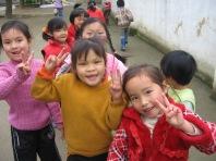 3-31 Schoolgirls greet