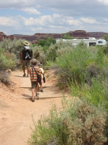 7-17 Boys walking to RV