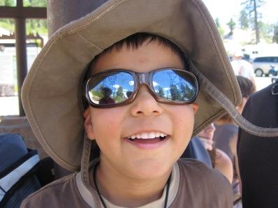 7-19 Aidan at shuttle stop