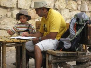 7-20 Aidan & Neerav working on jr ranger book