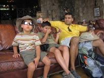 7-20 Boys resting Grand Canyon Lodge