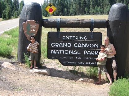 7-20 Boys, Shellie entrance Grand Canyon