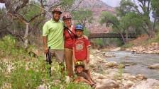 7-22 Family bikers river