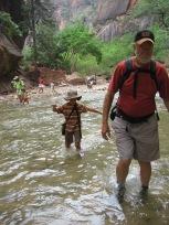 7-23 Boys & Mike crossing rive