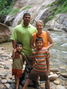 7-23 Group Narrows waterfall