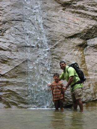 7-23 Nathan & Neerav waterfall