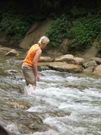 7-23 Shellie crosses rapids