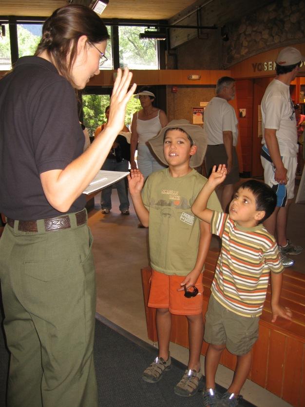 7-29 Boys jr ranger oath
