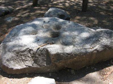 7-29 Indian acorn pounding rock