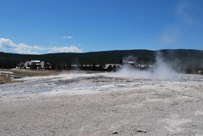 8-11-10 Lodge, Visitors Center steam