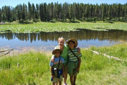 8-14-10 Aidan, Shellie & Nathan Heron Pond