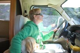8-14-10 Shellie & Nilla drive