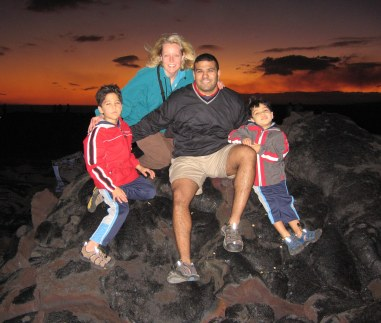 12-20-06 Nathan, Shellie, Neerav & Aidan sunset cropped