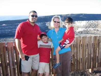 12-20-06 Neerav, Nathan, Shellie & Aidan crater