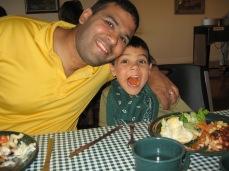 7-15 Neerav & Aidan BBQ dinner