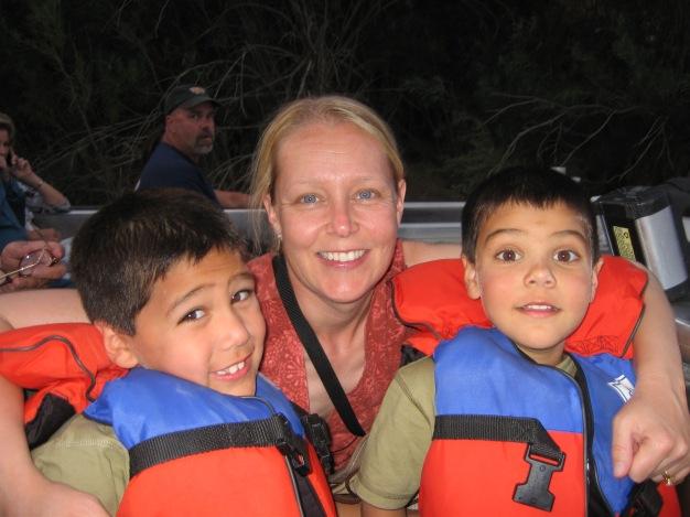 7-15 Shellie & boys boat