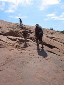 7-16 Climbing up slickrock sized