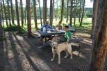 8-10-10 Boys & Nilla dinner Madison River