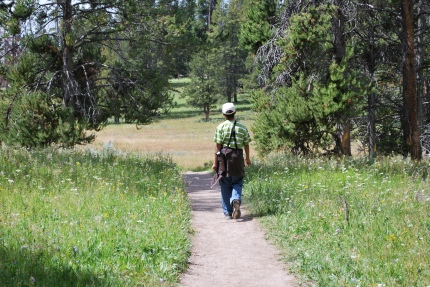 8-13-10 Nathan hiking thru meadow