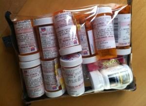 My stash of prescribed drugs.