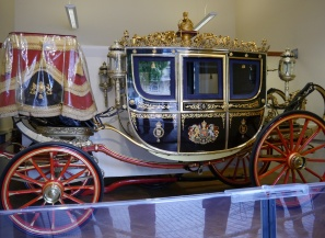 The Irish State Coach is traditionally used by the Monarch to travel from Buckingham Palace to Palace of Westminster to formally open the new session of Parliament.